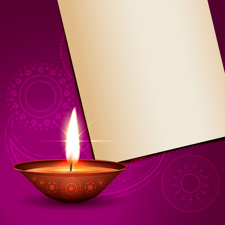 beautiful shiny diwali design with space for your text
