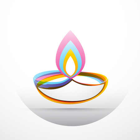 stylish diwali festival design art Vector