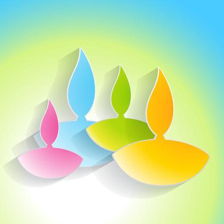 beautiful colorful diwali background design Stock Vector - 23064560