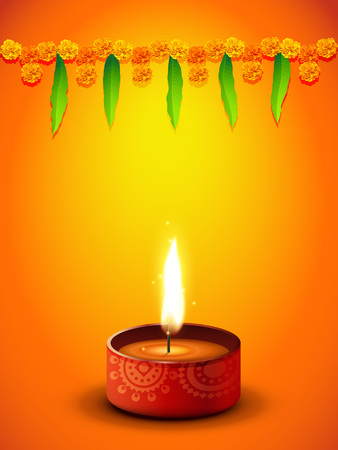 diwali greeting design with space for your text Stock Vector - 23064626