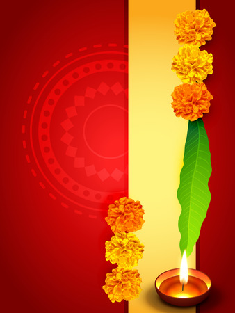 diwali greeting: vector stylish diwali greeting design with space for your text Illustration