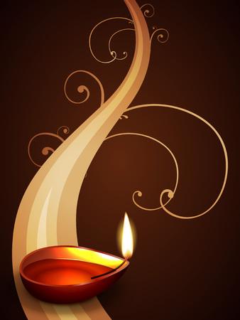 beautiful vector diwali design illustration