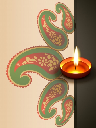 beautiful indian style diwali festival design Vector
