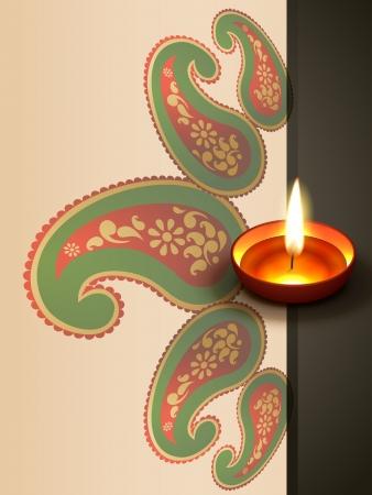 beautiful indian style diwali festival design Illustration