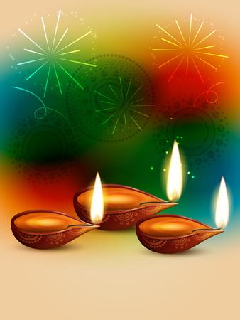 vector creative style happy diwali design