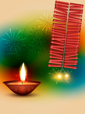 beautiful happy diwali design vector background Vector