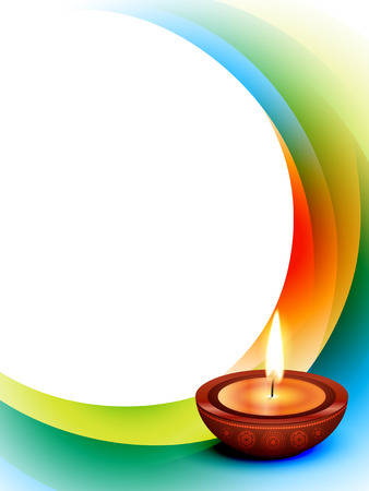 diwali: vector diwali wave style background Illustration