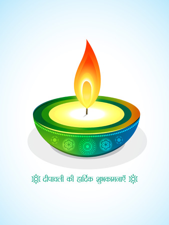 stylish creative vector diya design Vector
