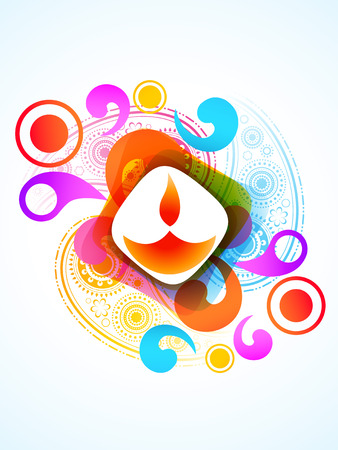 diwali colorful design vector illlustration Illustration