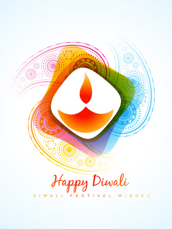 diwali: vector colorful diwali diya style background