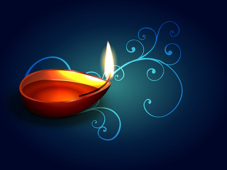 indian cultural festival of diwali Vector