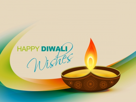 diwali festival vector design art Vector