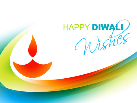 beautiful colorful happy diwali background Vector