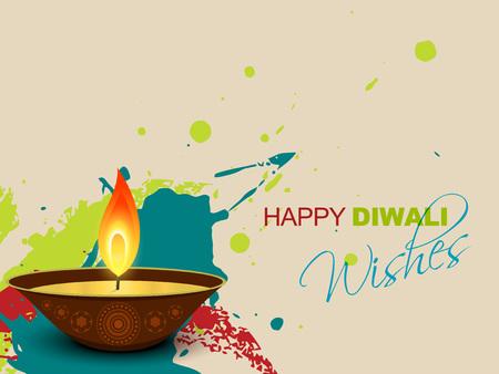 vector colorful diwali splashes design