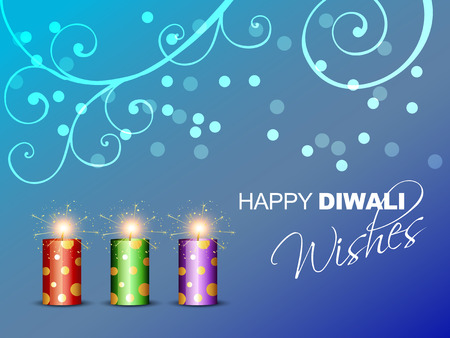 vector diwali burning crackers illustration Vector