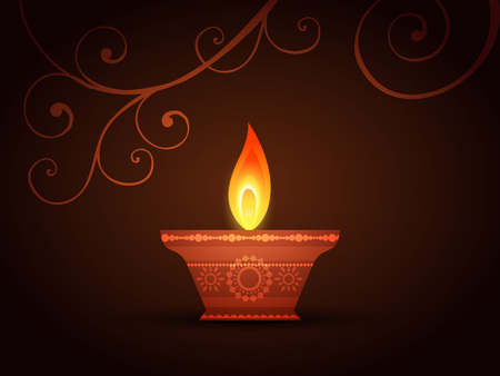 vector creative diya design background Vector