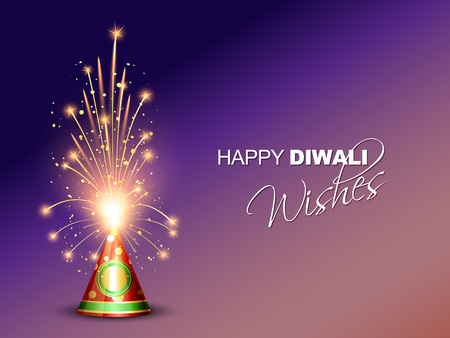 vector happy diwali cracker with space for your text Vector