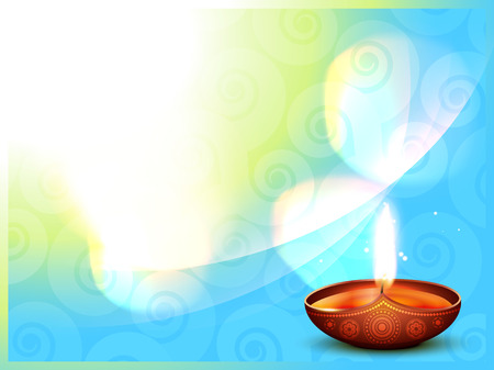 vector hindu diwali festival design background Vector