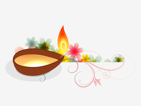 beautiful diwali festival greeting design Vector