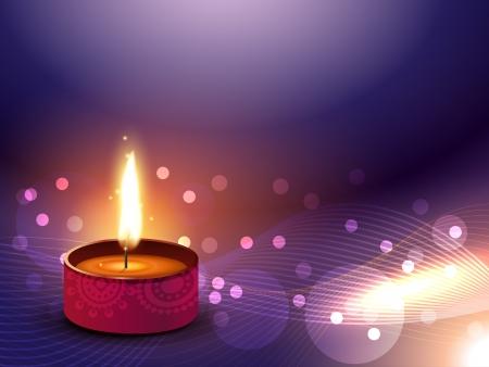 stylish vector happy diwali indian festival design Vector