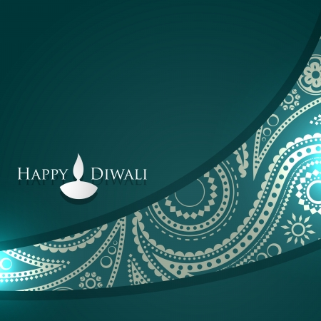 diwali vector design with space for your text Ilustrace