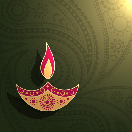 vector creative diwali background design Vector