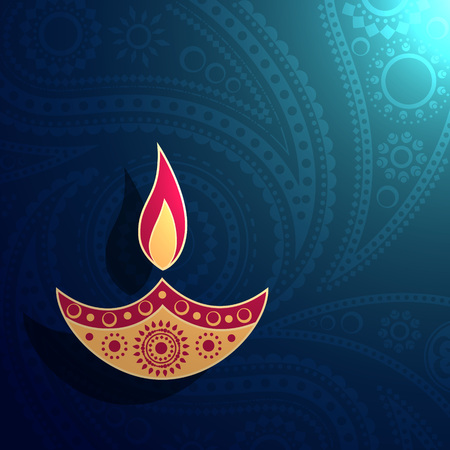 vector stylish creative diwali diya illustration