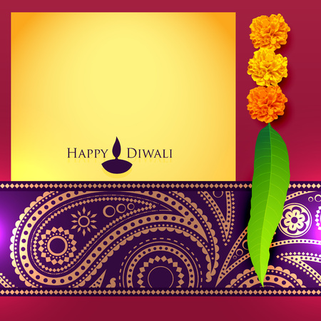diwali vector background with space for your text Vector