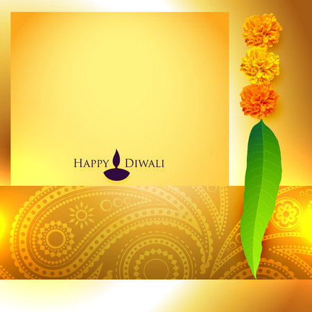 beautiful diwali vector background with space for your text Vector