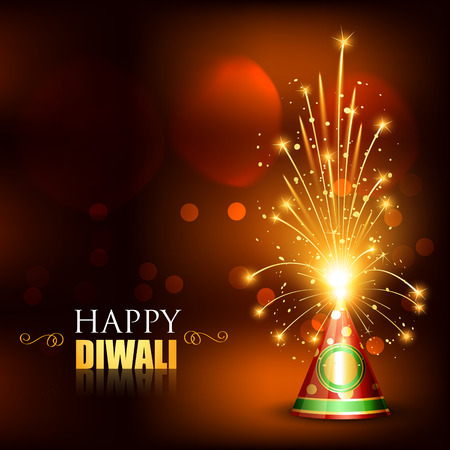 vector happy diwali cracker with space for your text
