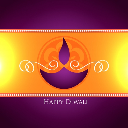 beautiful diwali festival greeting design Stock Vector - 23065297