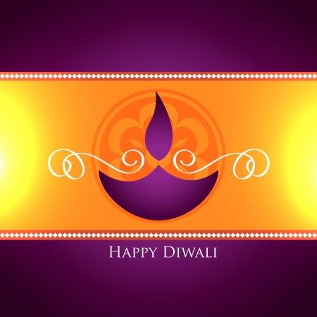 beautiful diwali festival greeting design Illustration
