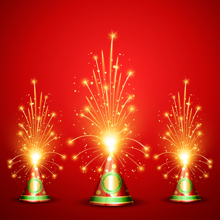 vector diwali crackers background design Vector