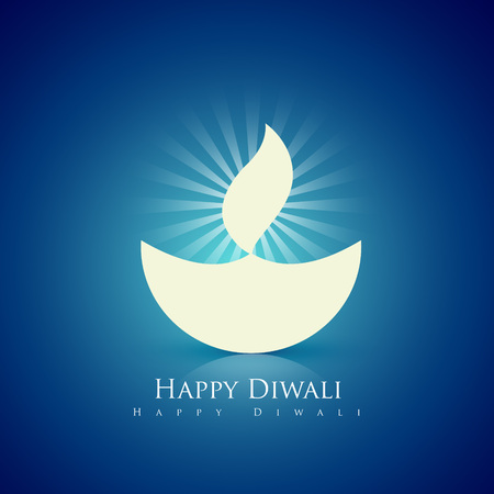 beautiful happy diwali diya background Vector