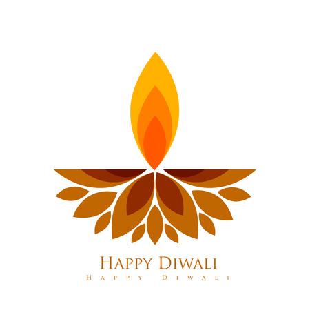 festival vector: vector creative style diwali festival diya