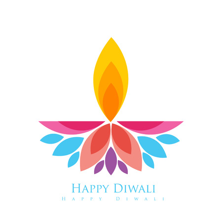 vector colorful happy diwali greeting Illustration