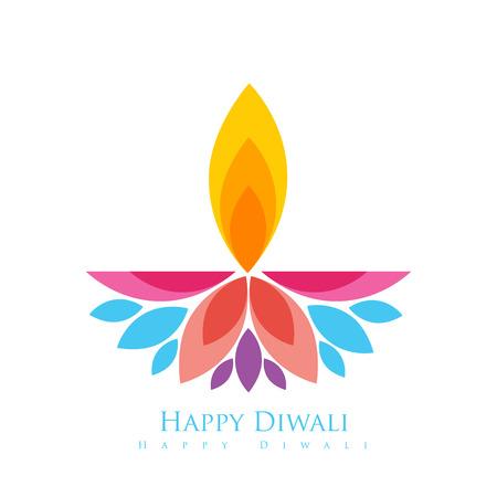 vector colorful happy diwali greeting Vectores