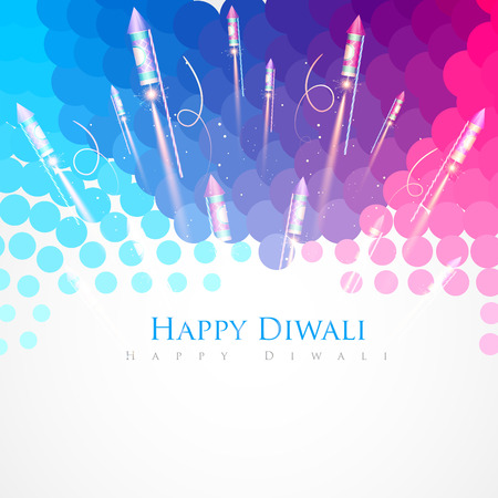 abstract style vector diwali background Vector