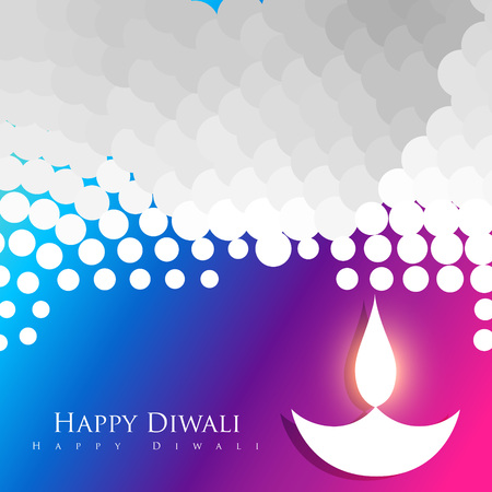stylish colorful diwali diya design Stock Vector - 23065370