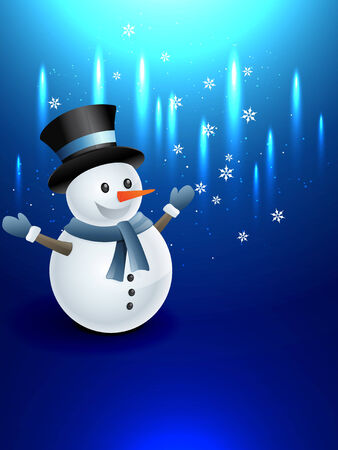 winter happy snowman design illustration Vector