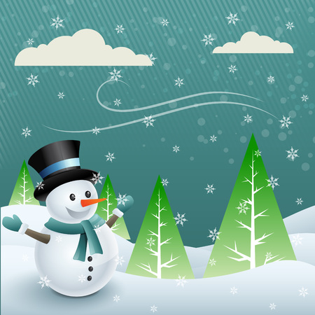 snowball: vector snowman cartoon design illustration