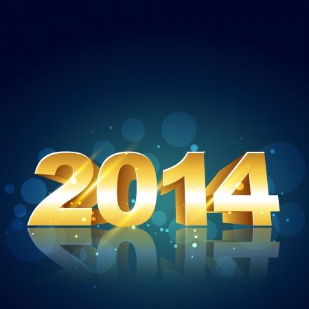 2014 happy new year design illustration