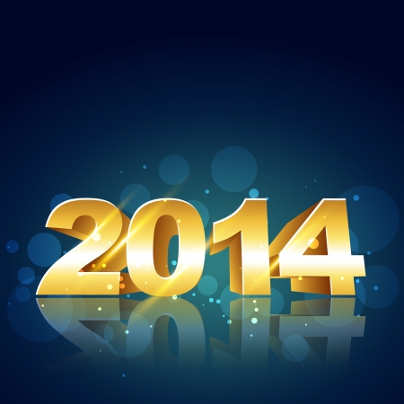 2014 happy new year design illustration