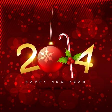 mooie glanzende gouden creatief Gelukkig Nieuwjaar vector design