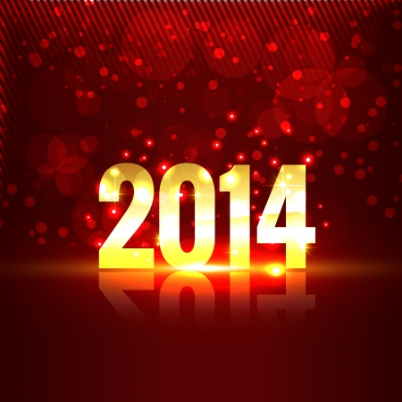 beautiful shiny happy new year style illustration