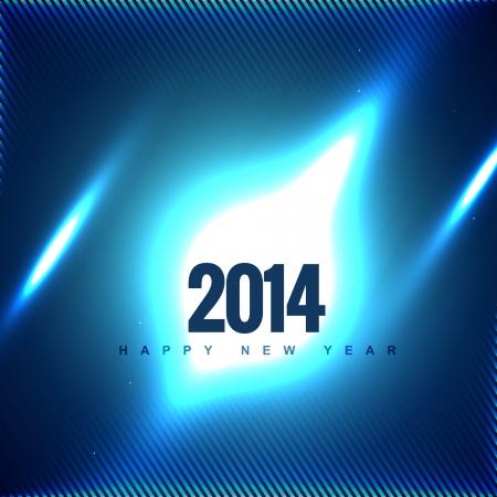 vector 2014 creative greeting design Vector