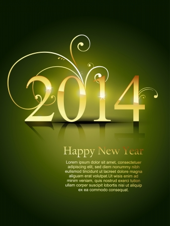 happy new year 2014 vector design Vector