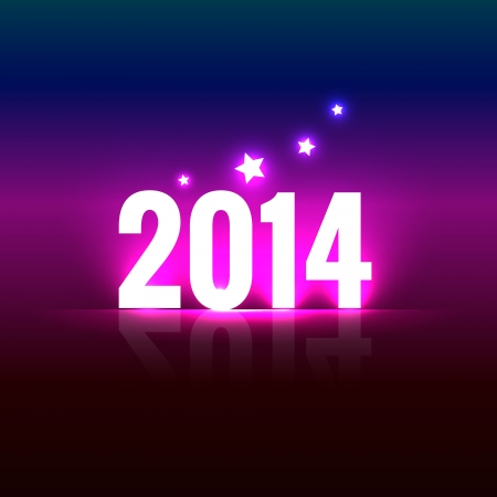stylish creative happy new year design Vector