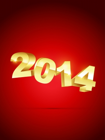 happy new year 2014 illustration Vector