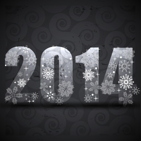 creative 2014 new year greeting background Stock Vector - 24543559
